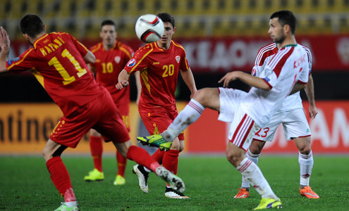Moment od the 2016 EURO qualifier in Skopje; photo: football.by